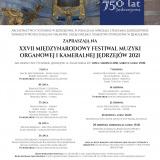 XXVII Międzynarodowy Festiwal Muzyki Organowej i Kameralnej Jędrzejów 2021