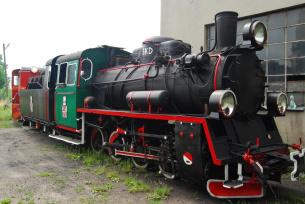 Zabytkowa lokomotywa z 1950 r. Jędrzejów