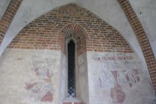 Freski wewnątrz kościoła w Mieronicach
