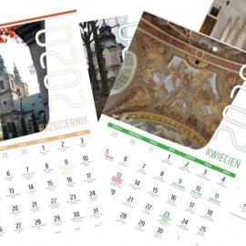 Kalendarz na rok 2020 ze zdjęciami jędrzejowskiego klasztoru niedługo w sprzedaży