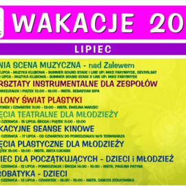 Nieodpłatne zajęcia wakacyjne w Centrum Kultury w Jędrzejowie