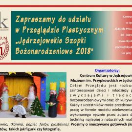 """Doroczny przegląd plastyczny pt. """"Jędrzejowskie Szopki Bożonarodzeniowe"""""""
