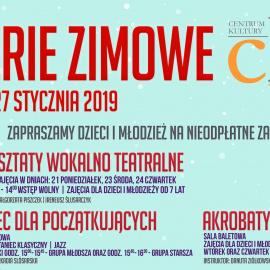 Bezpłatne zajęcia w czasie ferii w jędrzejowskim Centrum Kultury